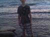 Ich am Strand von Kalamaki