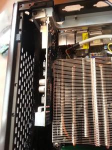 CPU Kühler berühert TV Karte